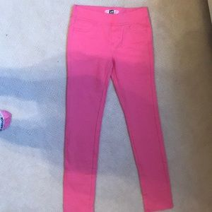 Girls pink pants